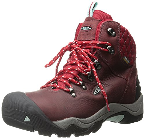 KEEN Women's Revel III Winter Boot, Racing Red/Eggshell, 9 M
