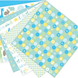 Martha Stewart Crafts Baby Boy Pad, 24 Sheets, 12 by 12 inches