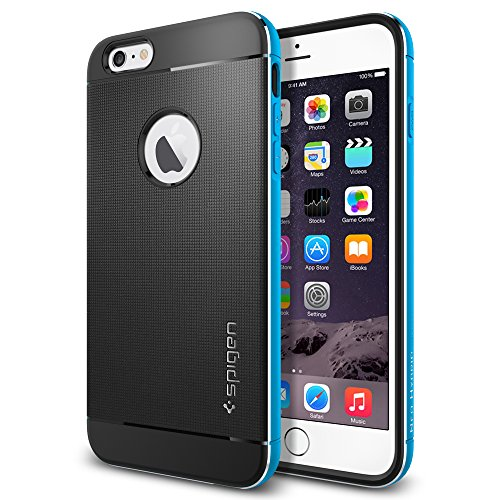 iPhone 6 Plus ケース Spigen [アルミニウム バンパー] ネオ・ハイブリッド メタル Apple iPhone (5.5) (国内正規品) (メタル・ブルー SGP11072)