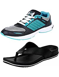 Aircum Men COMBO Pack Sports Shoes & Slippers