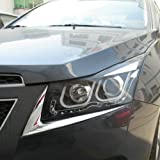 Jackey Awesome® Chrome Head Light Lamp Cover Protector Trim 2Pcs/Set For 11 12 13 Chevy Cruze
