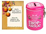 Personalised Christmas Card with Novelty Tin - Shop-Aholic. Gift Set. Perfect Christmas Stocking Filler. Personalised details required.