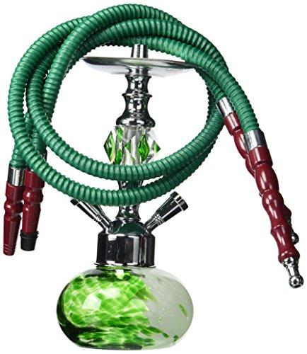 GSTAR-Premium-Series-11-2-Hose-Hookah-Complete-Set-w-Carry-Case-Optional-Swirl-Glass-Vase-Living-Green-w-Case