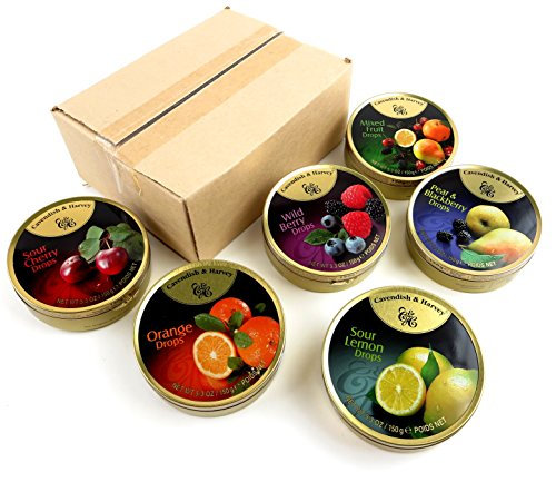 Cavendish & Harvey 6-Flavor Drops Variety, 5.3 oz Tins (Pack of 6) (Fruit Drops Hard Candy compare prices)