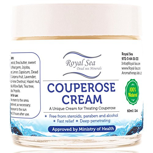 Royal Dead Sea Broken Capillaries Face Cream, Redness Relief, Couperose and Rosacea Treatment Natural Skin Care Product 2 Oz / 60 Ml (Cream Rosacea compare prices)