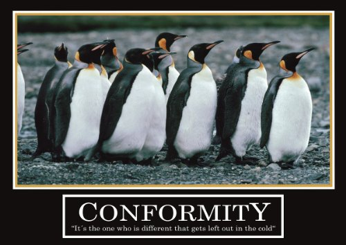 Conformity Poster -ORIGINAL- Barney Stinson Poster - 3/13 - How I met your mother - Poster - Motivation Poster - Büro Poster - Barney Stinson Office Poster - Pinguin Poster - motivational poster penguin poster - penguins Pinguine Poster
