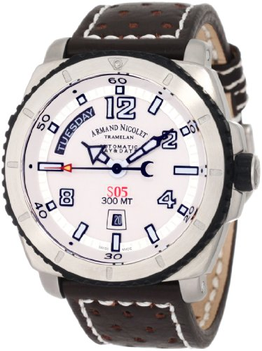 Armand Nicolet Men's 9610A-AG-P160TM4 S05 Sporty Automatic Stainless-Steel Watch