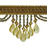 Expo International Isabella Scalloped Bead Fringe Trim, 10-Yard, Gold Multi