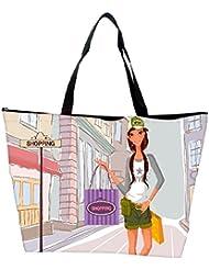 Snoogg Girl Shopping Designer Waterproof Bag Made Of High Strength Nylon
