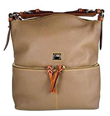 Dillen Leather Medium Zipper Pocket Sac - Taupe: Handbags: Amazon.com
