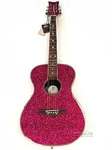girls pink sparkle acoustic electric guitar musical instruments. Black Bedroom Furniture Sets. Home Design Ideas