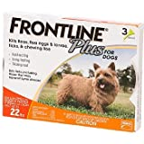 Merial Frontline Plus Flea and Tick Control for 5-22 Pound Dogs and Puppies  3-Pack