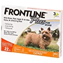 Merial Frontline Plus Flea and Tick Control for 5-22 Pound Dogs and Puppies, 3-Pack