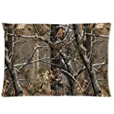 """Realtree Camo Pillow Cases Covers Standard Size Pillowcase 20""""x30"""" (Twin sides)"""