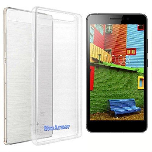 BlueArmor Soft Silicone Back Cover Case For Lenovo PHAB PLUS PB1-770M - Transparent