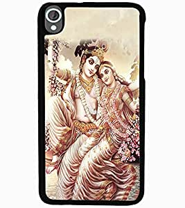 ColourCraft Lord Radha Krishan Design Back Case Cover for HTC DESIRE 820