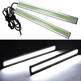 HAMIST- Pair of 6W High Power Waterproof COB LED DRL Daytime Running Light Lamp For Car SUV Sedan Coupe Vehicle( White )