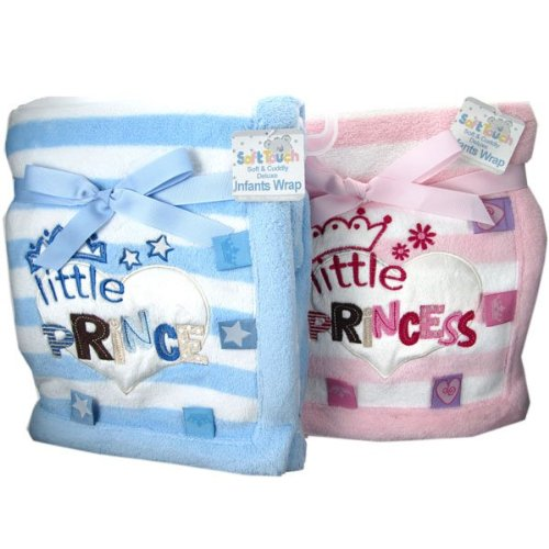 Gorgeously soft little Prince & Princess blankets by Soft Touch - Size Pink