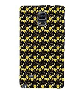 EPICCASE golden leaves of heart Mobile Back Case Cover For Samsung Galaxy Note 4 EDGE (Designer Case)