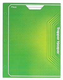 Mead Trapper Keeper 2-Pocket Portfolio, 12 x 9.38 x .12 Inches, Green (72648)