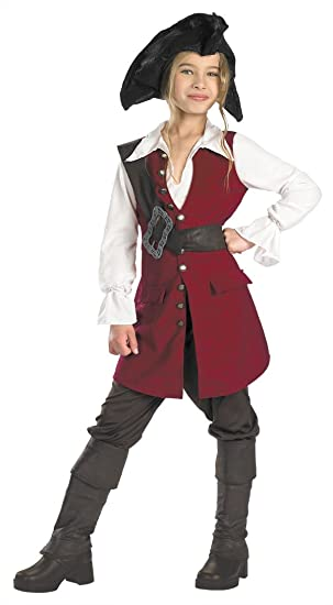 Pirates Of The Caribbean Elizabeth Pirate Deluxe Child Costume