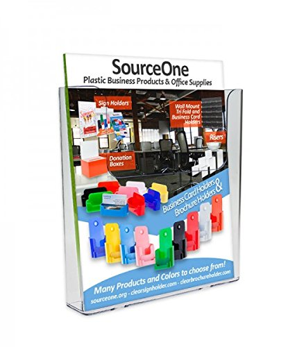 Source One Premium Large Wall Mount Magazine Rack/Brochure Holder (Wall-Mag)