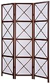Roundhill 3-Panel Screen Room Divider Walnut