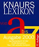 Knaurs Lexikon Von A Bis Z (German Edition) (342666402X) by Peltzer, Karl