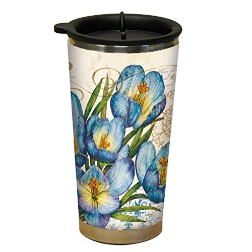 Lang Blue Crocus Traveler Mug