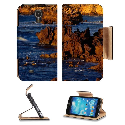 Rugged Coastline At Boozy Gully Canunda National Park Australia Samsung Galaxy S4 Flip Cover Case With Card Holder Customized Made To Order Support Ready Premium Deluxe Pu Leather 5 Inch (140Mm) X 3 1/4 Inch (80Mm) X 9/16 Inch (14Mm) Liil S Iv S 4 Profess