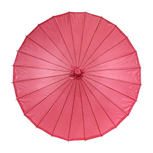 Koyal Color Paper Parasol, 32-Inch, Red front-1063987