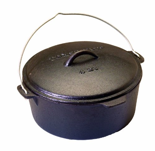 CAST IRON DUTCH OVEN, SEASONED