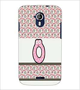 PrintDhaba Alpahbet O D-5826 Back Case Cover for MICROMAX A116 CANVAS HD (Multi-Coloured)
