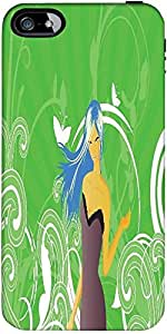 Snoogg abstract illustration Hard Back Case Cover Shield ForApple Iphone 5 / 5s