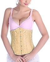 NONWE Sexy Women's Waist Cincher Boned Corset Bustier G-string