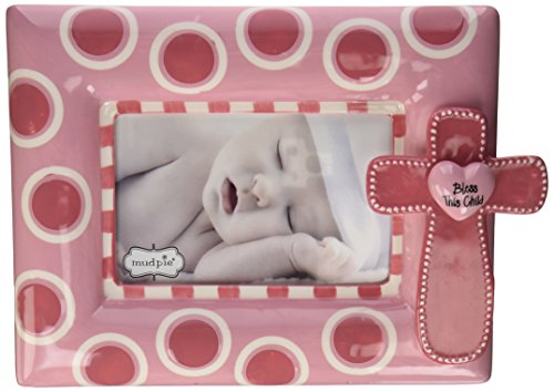 Mud Pie Cross Frame, Pink