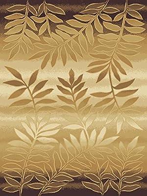 Modern Floral Transitional Rug Earthtone Faded Tone on Tone Carpet