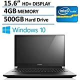 2016 NEW Edition Lenovo 15 Premium Laptop, Intel Dual-Core Processor, 4GB Memory, 500GB Hard Drive, 15.6-inch...