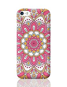 PosterGuy iPhone 5 / iPhone 5S Case Cover - Rangoli with pink background | Designed by: Codeburnerz Technologies