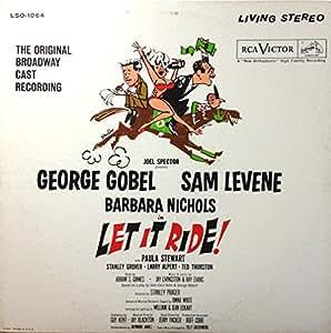 LET IT RIDE! (BROADWAY ORIGINAL CAST LP VINYL, 1961)