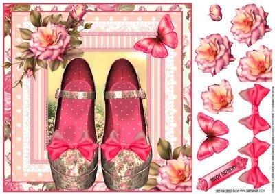 The Vintage Rose rosa Topper-Scarpe da Julie Hutchings