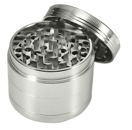 "Four Piece 2 1/4"" Herb, Spice, Tobacco, etc Grinder (Lifetime Warranty, Bulk Packaging)"