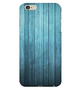 Blue Wood Background 3D Hard Polycarbonate Designer Back Case Cover for Apple iPhone 6S