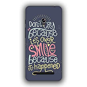 Caseque (Pro) Don't Cry.. Smile.. Back Cover for Asus Zenfone 5