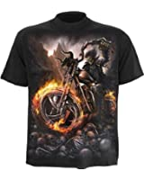 Spiral Wheels of Fire T - Shirt, schwarz