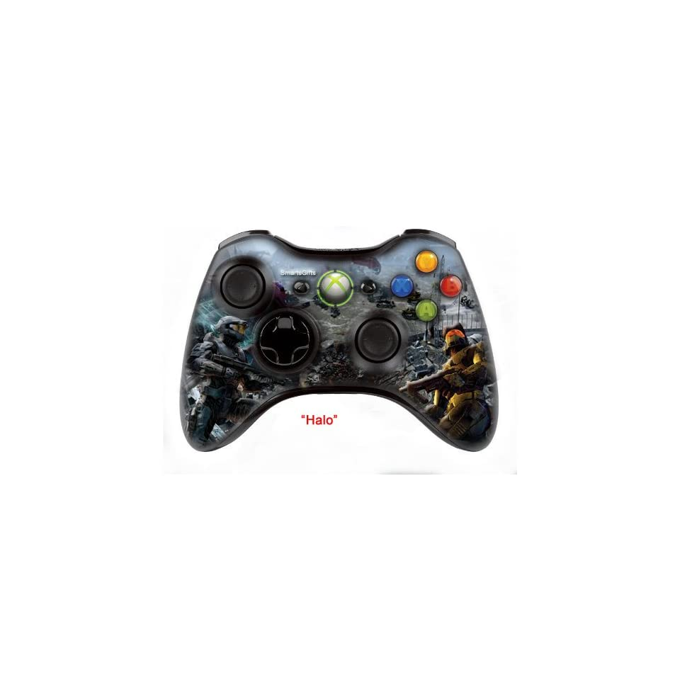 Halo   skin , Three additional modes  (10 Modes Dual Rapid Fire +   Fast Aim Fire mode + Central Buttons Illumination)   Wireless Original Microsoft controller  Xbox 360 (modded) ,the  Best  for MW1.2.3 , COD , BATTLEFIELD , HALO , other Shooter  Games