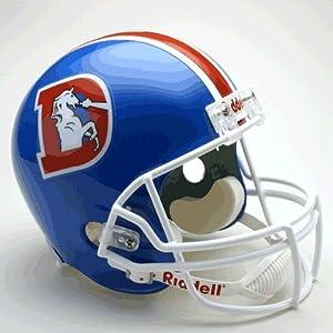 Denver Broncos 1975-96 Throwback Riddell Deluxe Replica Helmet by Hall of Fame Memorabilia