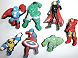 Avengers Super Hero Shoe Charms 6 pc Set - Jibbitz Croc Style - Hulk, Iron Man, Captain American and Friends