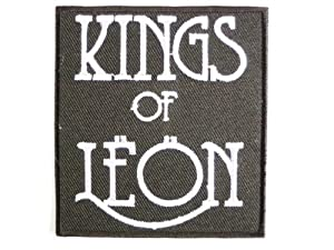 """KINGS OF LEON Logo Embroidered Iron On Sew On aufnaher patches3""""/8cm x 2.8""""/7.4 BY SSLINK"""