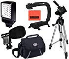 Intermediate Accessory Package For Sony HDR-CX360 HDR-CX380 HDR-CX430V HDR-CX550V HDR-CX560 HDR-CX580V HDR-CX700 HDR-CX760V HDR-PJ260V HDR-PJ380 HDR-PJ430V HDR-PJ580V HDR-PJ650V HDR-PJ710V HDR-PJ760V HDR-PJ790V HDR-TD20V HDR-TD30V - Includes Deluxe LED Video Light + Video Bracket + Mini Zoom Directional Shotgun Microphone + Soft Medium Camcorder Case + 57 Inch Tripod For + More!!